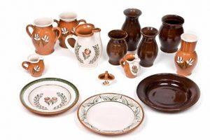 Keramické džbány, taniere