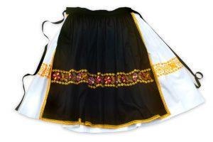 Sukňa s čiernou zásterkou