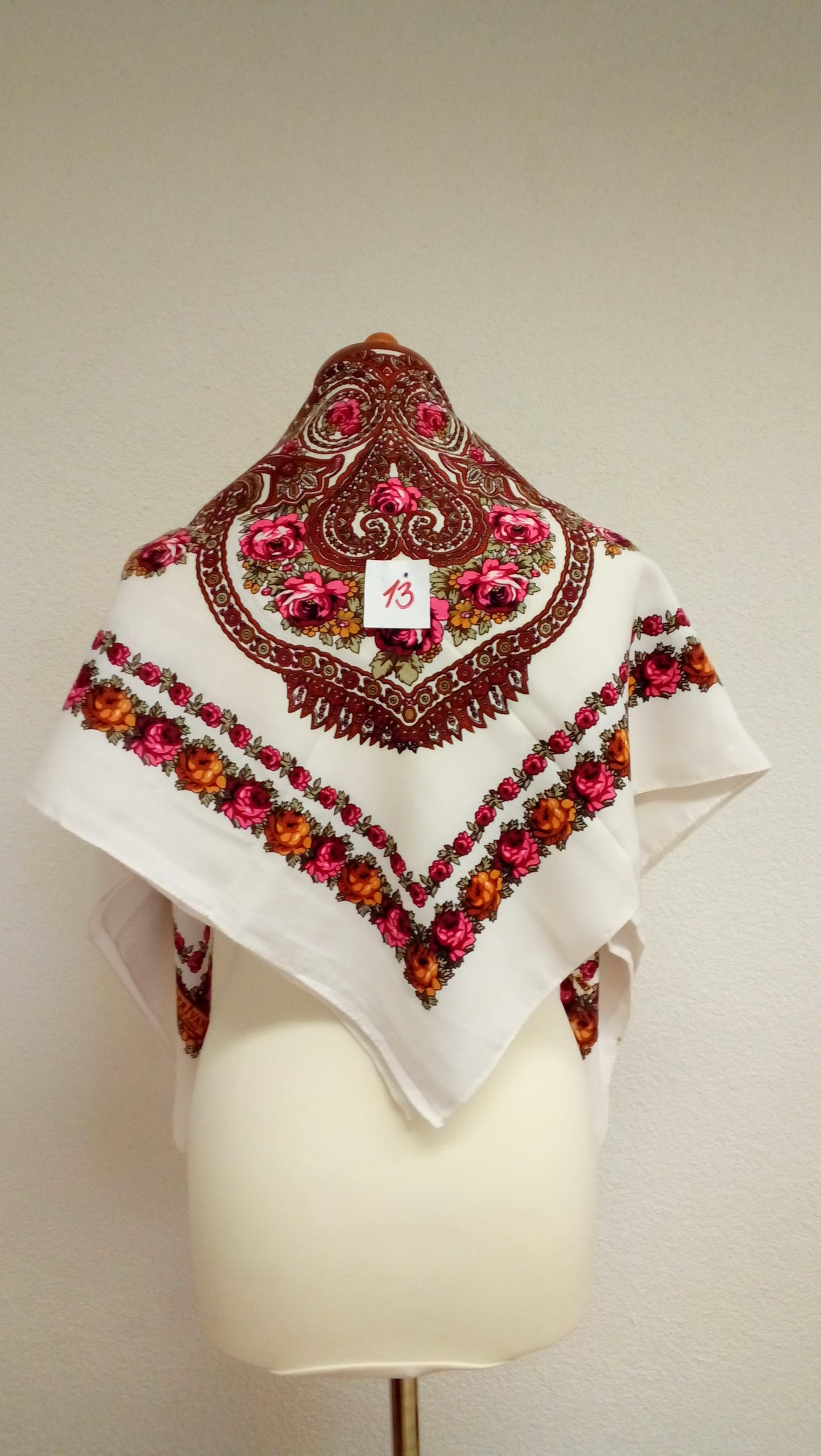 b1260cd0459e Dámska bavlnená šatka biela (13) – Detvianske ľudové umenie – Iveta ...